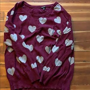 Adorable TORRID heart print sweater